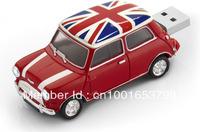 Free Shipping Fashionable Real Capacity Mini Cooper Car USB Flash Memory