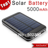 [ HOT SALE ] 5000MAH Solar Battery Panel Charger Mobile Power bank External Battery Charger for nokia iPhone IPOD series