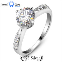 High quality women rings Zircon 925 Sterling Silver Classic 1 CT Elegant 925 Silver Lady Ring #RI100569