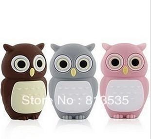 Free Shipping Cute Owl 16GB 32GB 64GB USB Flash Drive Rubber