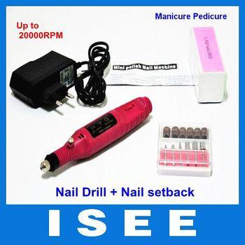 Pen Shape Electric Nail Art Salon Manicure Pedicure Drill File Polish Tool Set Free Shipping