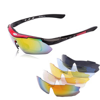 New 0089 Polarized 5 color lens  Bicycle Bike Cycling Sunglasses Outdoor Sports Eyewear Tactical Goggle
