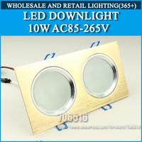 LED Downlights 10W 5*1*2W AC85-265V Warm white/cold white Free shipping