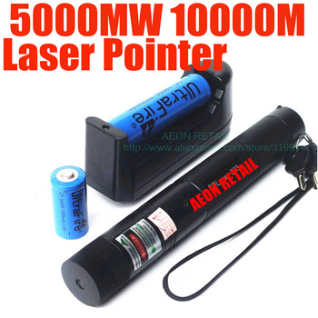 5000mw Laser Pointer Pen with Charger with Battery ,Green Laser Pointer +Retail Gift Box+ Battery+Charger,Retail Dropshipping
