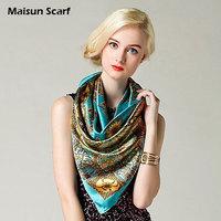 90 x 90cm 100 polyester imitation satin silk newest brand design fashion scarf