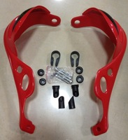 Windproof Motorcycle Handlebar/Hand Guards,Protect your hands/Motorcycle performance dirt bike atv-Red