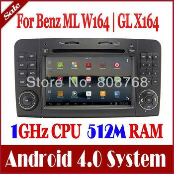 Android 4.0 Auto PC Car DVD Player GPS Nav for Mercedes Benz ML GL Class X164 GL300 GL350 GL420 GL450 GL500 w/ Radio TV 3G WIFI