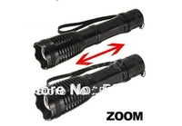 1800 Lumen Zoomable CREE XM-L T6 LED 18650 Flashlight Torch Zoom Lamp Light  for AAA or 18650