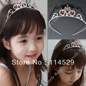 10pcs/lot Rhinestone Princess Hair Band Tiara For Kids & Girls Crown Headband Free Shipping 5895