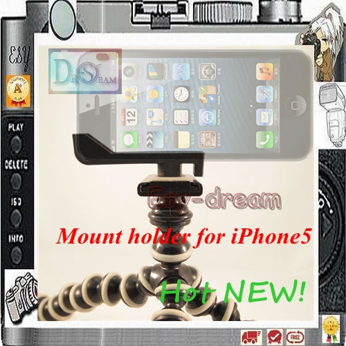 Stand mini Tripod Mount holder for iPhone5 iphone 5 PO105(China (Mainland))