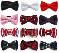 Men Neck Knitted Bowtie Bow Tie Pre-Tied Adjustable Tuxedo Bow Tie Men Accessories Free Shipping 100 pcs