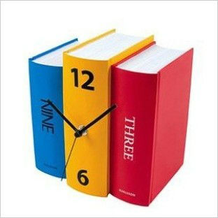 Handmade design books clock the creative personality Dictionary vintage grandfather clock shelf Students Desk gift Free shipping(China (Mainland))