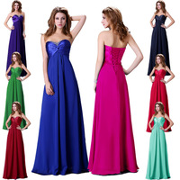 Free Shipping Grace Karin 8 colors Strapless Women Sweetheart Beads Formal Long Prom Party Evening Bridesmaid Dress CL4101