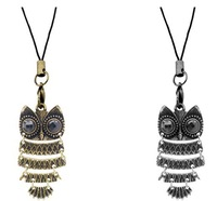 Min.order is $10 (mix order)Fashion Vintage Metal (Bronze\Silver)Owl Necklace Jewelry Wholesale !Freeshippping/XL-A004 10pcs/lot