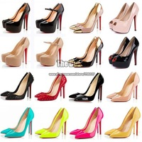 Designer brand sex club shoes party favors stiletto black mary jane red bottom high heels nude colored platform pumps for women