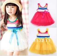 325 baby girls pretty striped dresses 2014