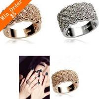 2014 New Fashion Shining Full Rhinestone Finger Ring For Woman Luxurious Paragraph Fashion 66R581   66R683
