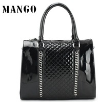 free shipping ladies PU leather totes designer brand fashion hot sale black chains for women's handbag bag