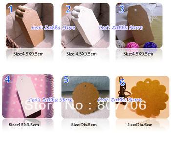 MIXED ITEM HANG TAG Free shipping (500pcs/lot) ---HOT SALE Kraft Gift Tag / HANG TAG made by imported US kraft card