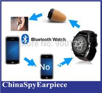 Bluetooth Watch with mini wireless earpiece as A Full Hands free Talking Kit ( Magnetic 305 earpiece)