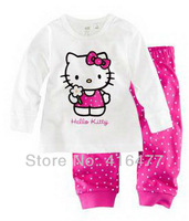 New arrivals 6 sets/lot baby cartoon hello kitty pajamas kids pyjamas baby girls nightgown/sleepwear/sleeping suit
