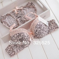 free shipping New product High quality Fashion vintage elegant lace bra set underwear set