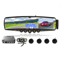 3.5&quot LCD Car Bluetooth Rearview Mirror (Wireless Camera Parking Sensors TTS Mp3 Earpiece FM)