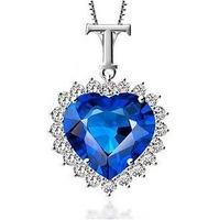 2013 New arrivals Romantic 925 sterling silver &  AAA zircon & platinum plated female crystal pendants jewelry free shipping
