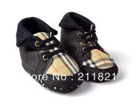 BU004 baby girl shoes plaid black first walkers home shoes size 2 3 4 in US