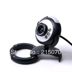USB 6 LED PC Webcam Camera plus + Night Vision MSN, ICQ, AIM, Skype, Net Meeting and compatible with Win 98 2000(China (Mainland))