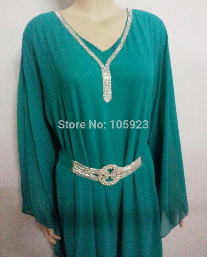 Free ship 2014 fashion abaya islamic clothing chiffon abaya muslim