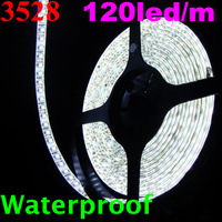 DHL Free shipping 3528 600led 5M LED Strip SMD Flexible light 120led/m outdoor waterproof white/blue/red/green/warm white/yellow