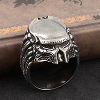 Gothic AVP Rings Alien vs Predator Rings Punk Alloy Unisex Retro Gothic Jewelry Antique Silver Plated alloy ring