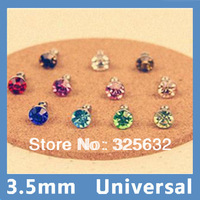 Wholesale 100pcs 3.5mm Diamond Anti Dust Dustproof Plug Stopper For Apple iPad iPod iPhone 4S 4G 5 5G/MP3/MP4 Free Shipping