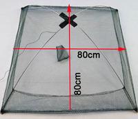 New Durable Nylon Eels Shrimp Crab Trap Cast Steel Wire Frame Umbrella Fishing Net