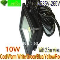 2.5M Wires 10W 20w 30w 50w 100w LED Flood Light 10W Warm White Outdoor Lights black case Floodlight IP65 110V 220V 240V  LW1
