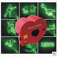 Free shipping latest red heart  animation design mini laser stage lighting for home party ,wedding