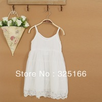 high quality summer girls lace dress  Korea style children white princess dress 5pcs/lot free shipping