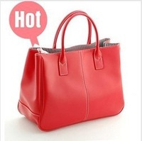 Special Offer!2012 Hot Selling PU Lady's Fashion Handbag Classic Design Multicolour women shoulder bag 010 Free shipping (1pcs)
