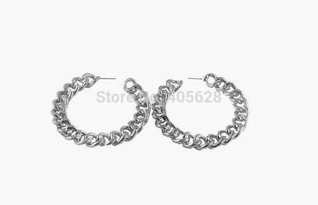 Fashion Silver Alloy chain earrings