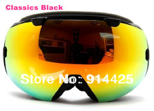 2014 New Arrival Double Antifog Spherical Ski Goggle Outdoor Snow Glasses(China (Mainland))