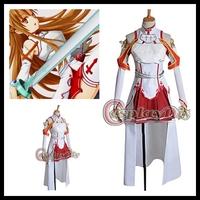 Freeshipping Custom made Sword Art Online Asuna Cosplay Costume