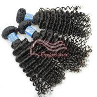 Virgin peruvian Curly Hair 4pc/lot grade 6a human hair weave deep curly mix length peruvian curly hair 12-32, color 1b