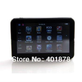 "4.3"" Car GPS Navigation + Bluetooth + AV-IN +FM +MP3 MP4 + 4GB memory + 3D Map free ship"