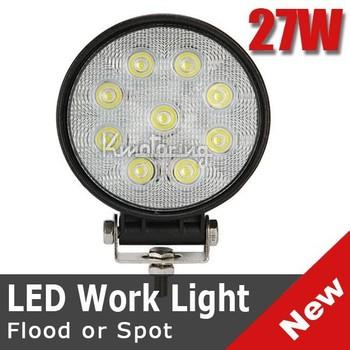 27W ROUND SPOT BEAM 30 DEGREE LED WORK LIGHT OFFROADS LAMP TRUCK UTE BOAT 12V 24V 4WD 4x4 CAMPING MINING ATV UTV FREE SHIPPING