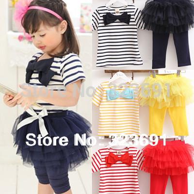 free shipping Kids set summer wear Short sleeve set Children clothing suit t shirt+pants(China (Mainland))
