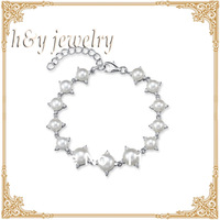 925 silver with AAA grade luster natural pearl bracelet,noble wedding jewelry free shipping,the best gift to lover BT10127