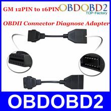 obd/gm 12 obd2 conector adaptador de clavija a 16 pines cable de diagnóstico, gm 12 pines para vehículos gm cnp libre(China (Mainland))