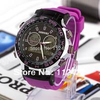 New 2014 military watches men sports watches mechanical hand wind Men Quartz Watches Silicon Wristwatch --EMSX2013112302