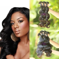 "4pcs/lot free shipping indian virgin hair body wave  12""-30"", tangle and shed free soft unprocessed natural hair"